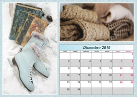 2019 horizontal yearly calendar example 4