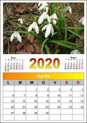Crea Calendario 2020 Con Foto.Calendari 2020 Realizzati Con Photo Calendar Creator